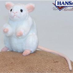 Белая мышь, 16 см Hansa