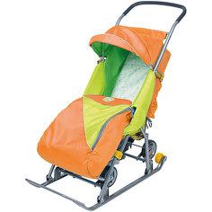 Санки-коляска Ника  Тимка 2 Универсальные, оранжевый Nika