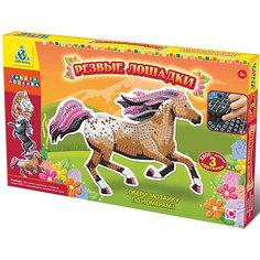 """Мозаика-набор """"Дикие лошади"""", 3 картинки Origami"""