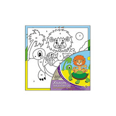 """Холст с красками по номерам """"Любимая сказка"""", 15х15 см Рыжий кот"""