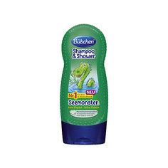 Шампунь для мытья волос и тела Зеленый монстр, BUBCHEN, 230 мл.
