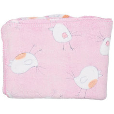 Плед-покрывало Птичка 100х118  Velsoft 2-стороннее оверлок, Baby Nice, розовый