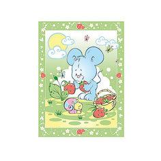 Одеяло байковое Земляничная поляна, 85х115, Baby Nice, зеленый