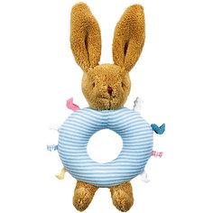 Погремушка-кольцо Зайчик, голубое, 16см, Trousselier