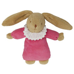 Мягкая игрушка Зайка с музыкой, цвет фуксии, 25см, Trousselier