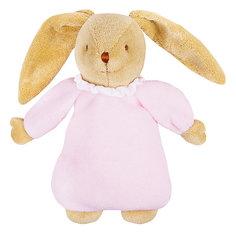 Мягкая игрушка Зайка с музыкой, розовый, 25см, Trousselier