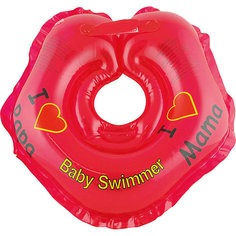 Круг для купания BabySwimmer, красный