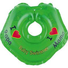 Круг для купания BabySwimmer, зеленый