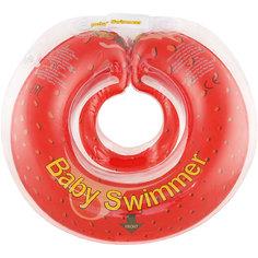 Круг для купания Клубничка BabySwimmer, красный
