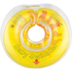 Круг для купания Солнышко BabySwimmer, желтый