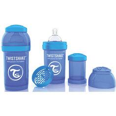 Антиколиковая бутылочка 180 мл., Twistshake, синий