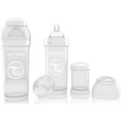 Антиколиковая бутылочка 260 мл., Twistshake, белый