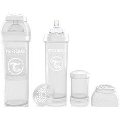 Антиколиковая бутылочка 330 мл., Twistshake, белый
