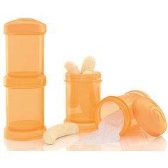 Контейнер для сухой смеси 100 мл. 2 шт., TwistShake, оранжевый