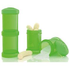 Контейнер для сухой смеси 100 мл. 2 шт., TwistShake, зелёный
