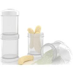 Контейнер для сухой смеси 100 мл. 2 шт., TwistShake, белый