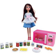 """Игровой набор """"Кукла, микроволновая печка, продукты"""", Krutti"""