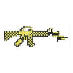 Пиксельный автомат, золотой, 62 см, Minecraft