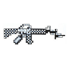Пиксельный автомат, серый, 62 см, Minecraft