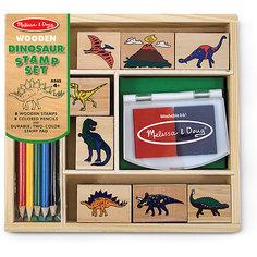 """Набор печатей """"Динозавры"""" Melissa & Doug"""