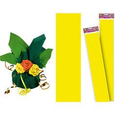 Желтая крепированная бумага 50*250 см Tukzar