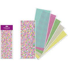 Перламутровые наклейки-бусинки (504 шт на листе) Tukzar