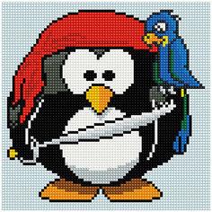 """Алмазная мозаика по номерам """"Пингвин"""" 20*20 см, на подрамнике Tukzar"""