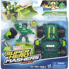 Набор Микро-Фигурка + Машина Марвел, HEROMASHERS Hasbro