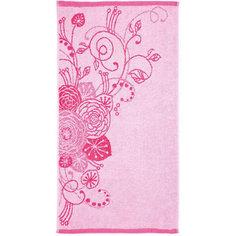 Полотенце махровое Лютики 50*90, Любимый дом, розовый