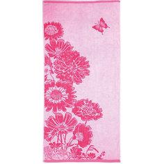 Полотенце махровое Цветник 50*90, Любимый дом, розовый