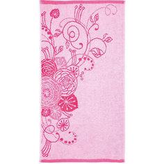 Полотенце махровое Лютики 60*130, Любимый дом, розовый