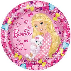 "Тарелка 23см, 6шт, ""Барби"" Росмэн"