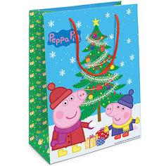 """Пакет подарочный """"Пеппа и елка"""" 350*250*90 Росмэн"""