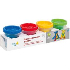 Набор для детского творчества «Тесто-пластилин 4 цвета» Genio Kids