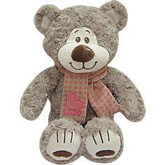 Мишка Митя с шарфом, бежевый, 25 см, Fluffy Family