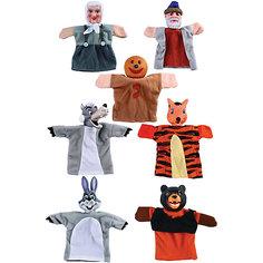 """Кукольный театр """"Колобок"""", 7 кукол, Жирафики"""