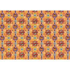 """Новогодняя упаковочная бумага в рулонах """"Деревянные игрушки"""", полноцветные 100x70см Яркий праздник"""