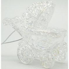 Подвесное украшение из пластика Жемчужная коляска (0,105Х0,105Х0,046м) Яркий праздник