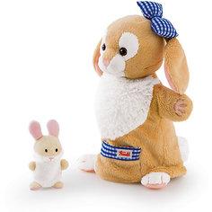 Мягкая игрушка на руку Зайчиха с зайчонком, 28 см, Trudi