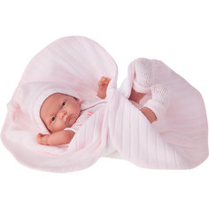 "Кукла-младенец ""Карла"" в розовом одеяле, 26 см, Munecas Antonio Juan"
