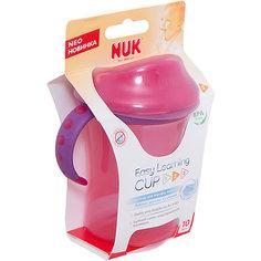 Поильник 2 с пластиковой насадкой и ручками Easy Learning 275 мл. с 10 мес., NUK, розовый
