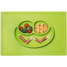 Тарелка трехсекционная с подставкой Happy Mat, 540 мл., ezpz, зеленый