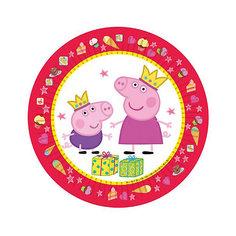 "Тарелка ""Пеппа Принцесса"" 23 см, 6 шт, Свинка Пеппа Росмэн"