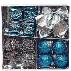 Набор елочных украшений 3 см, 16 шт Новогодняя сказка