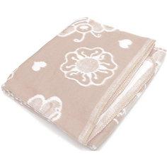Байковое одеяло х/б 140х100 см., Топотушки, бежевый Ермолино
