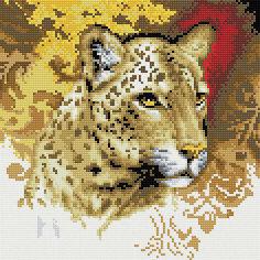 "Мозаика на подрамнике ""Портрет леопарда"" Белоснежка"