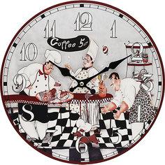 """Часы настенные """"Время пить кофе"""", диаметр 34 см Белоснежка"""