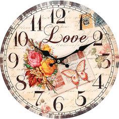 """Часы настенные """"Любовь"""", диаметр 34 см Белоснежка"""