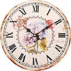 """Часы настенные """"Садовые цветы"""", диаметр 34 см Белоснежка"""
