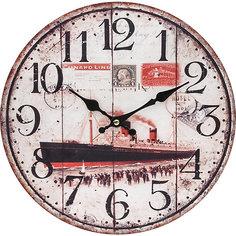 """Часы настенные """"Пароход"""", диаметр 34 см Белоснежка"""